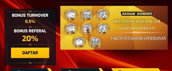 SahamDomino situs domino online penyedia permainan Poker Domino QQ adu Q