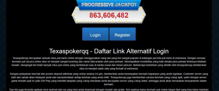 Texaspokerqq – Daftar Link Alternatif Login